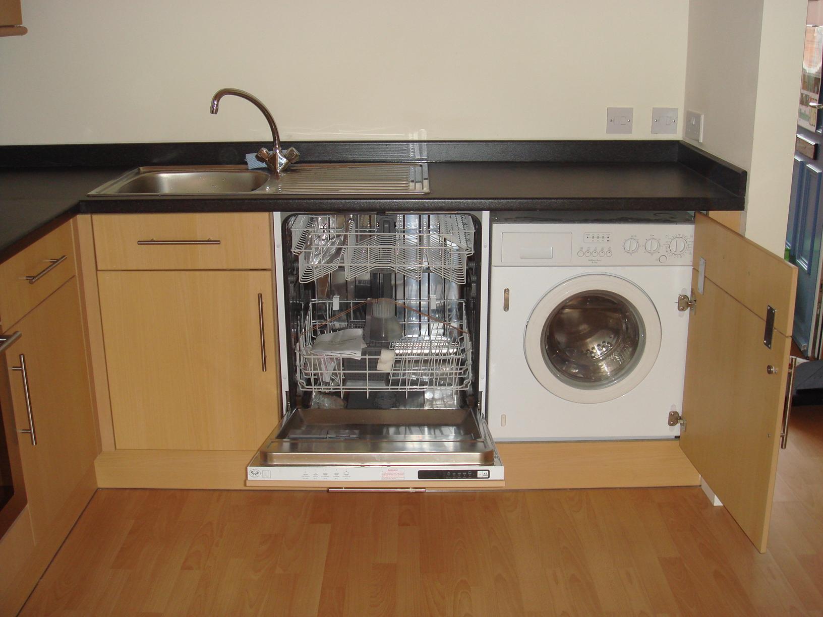 Kitchen Sink Dishwasher Washing Machine